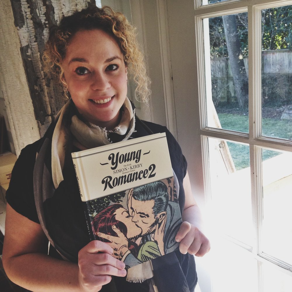 Young Romance 2: The Early Simon & Kirby Romance Comics By: Joe Simon & Jack Kirby, edited by Michel Gagné. Release Date: March 2014. Photograph of yours truly by James L. Carey.