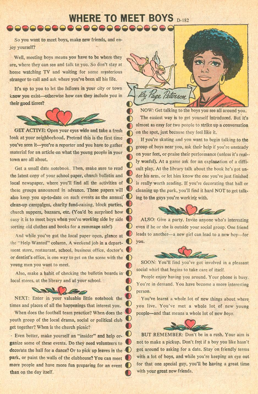 """Where to Meet Boys""  Secret Hearts  #152 (June 1971)"