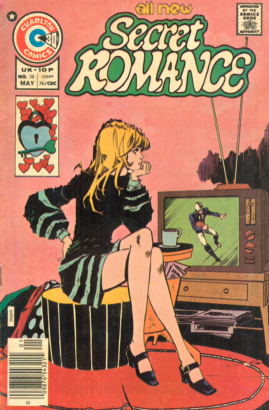 About how entertained I look while watching football  Secret Romance  #38 (May 1976)