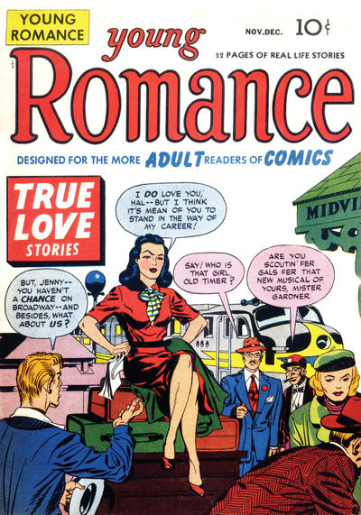 Young Romance  #2 (November/December 1947) Image from the Grand Comics Database