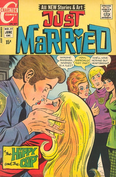 Charlton Just Married The Hippy and the Cop Counterculture