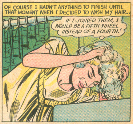 """The Wrong Party"" Falling in Love #63 (November 1963)"