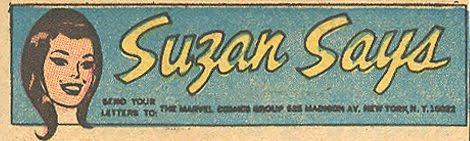 Suzan Says Marvel Comics Irene Vartanoff