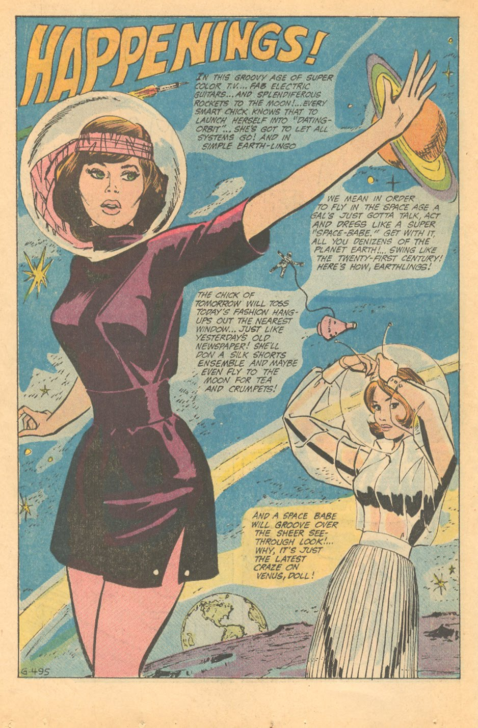 Pucci inspired fashion romance comics 1960s mod