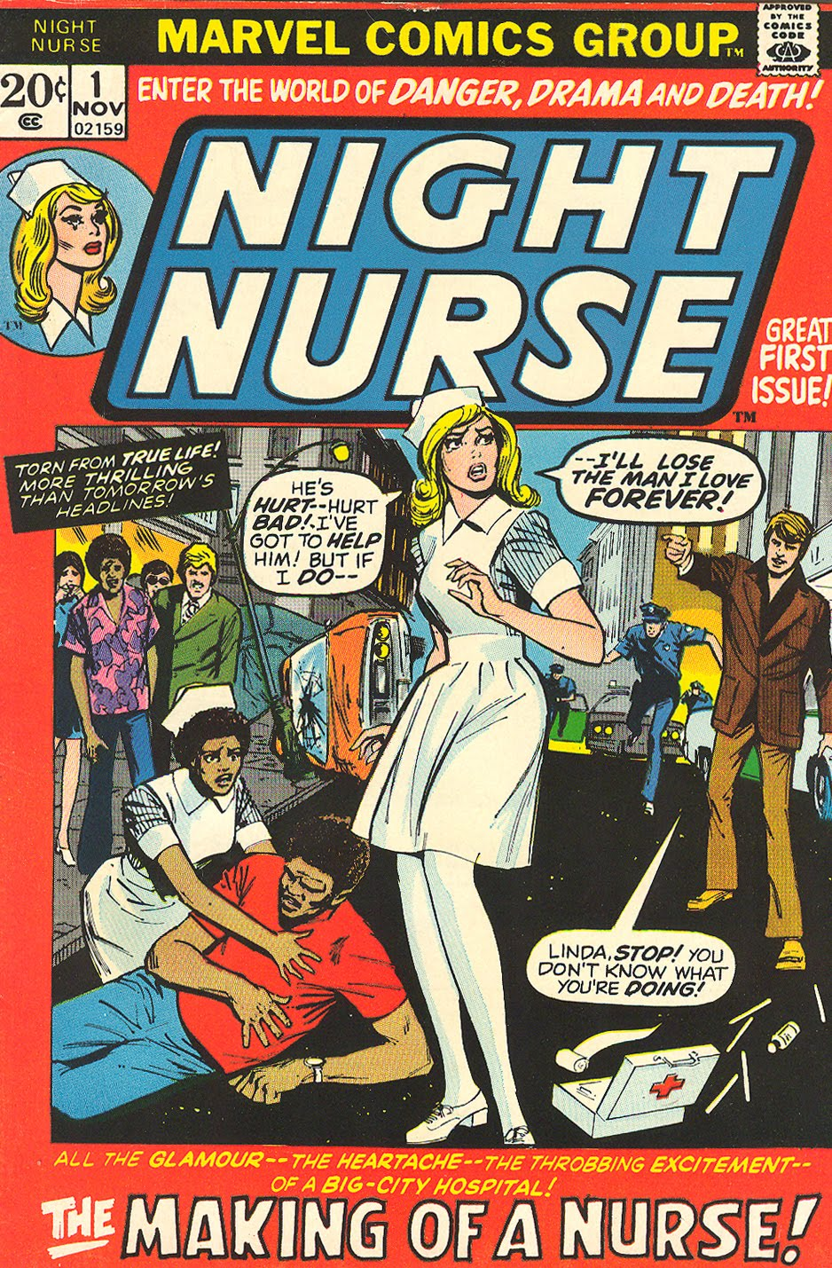 Linda Night Nurse Marvel Comics Romance Vintage 1970s Win Mortimer