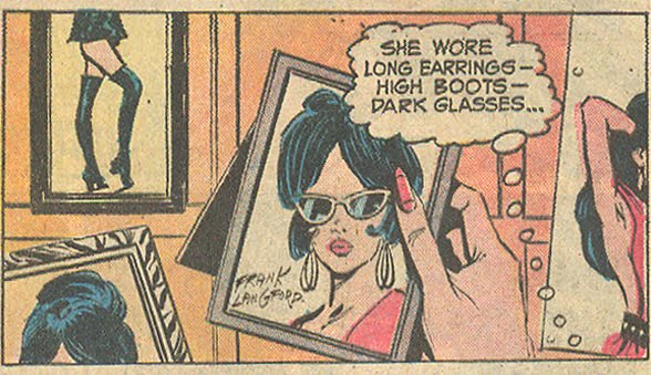 """I Shouldn't Have Stayed!"" Falling in Love #139 (January/February 1973) Notice the strategically placed signature!"