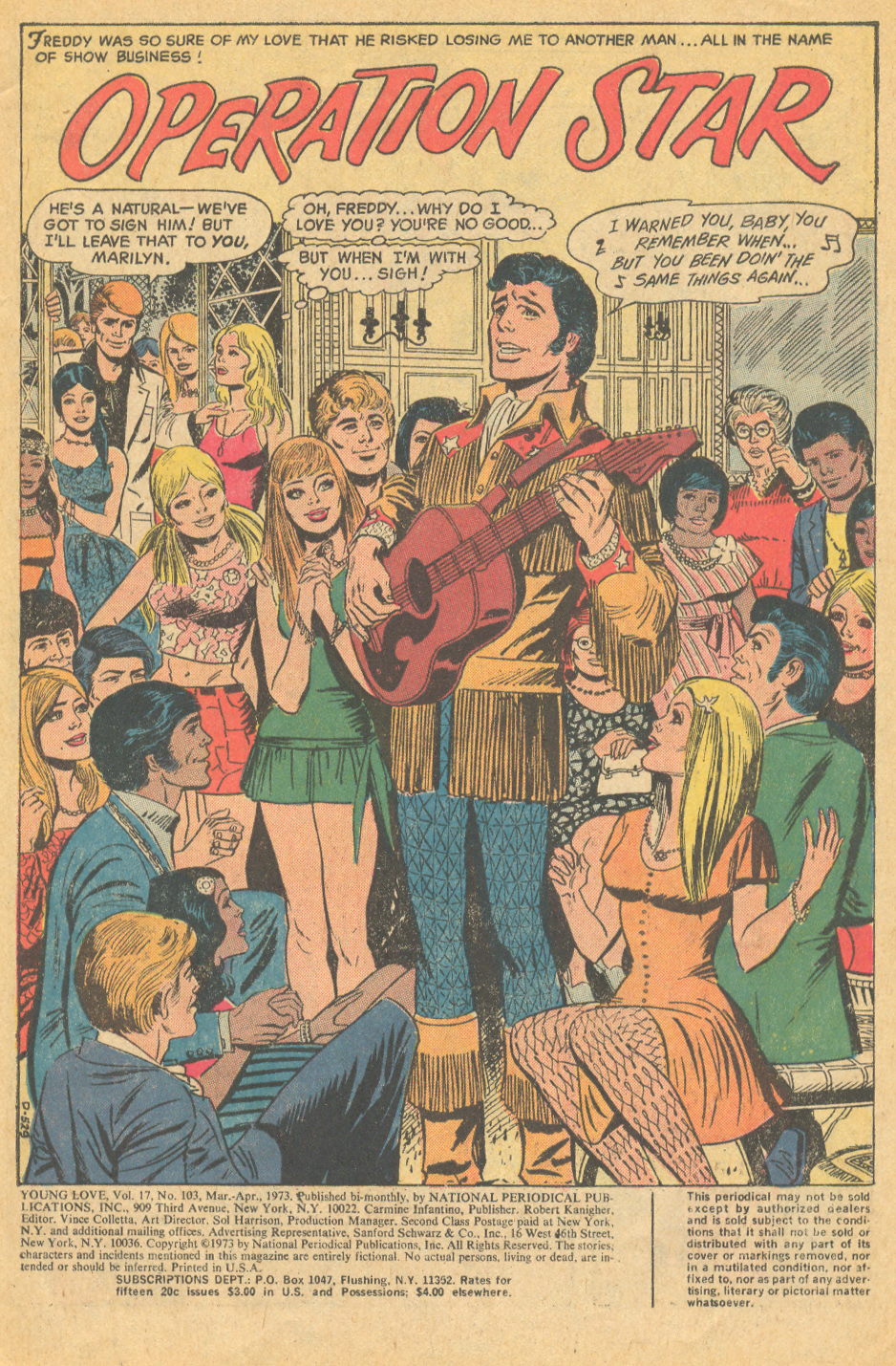 Young Love romance comic book country music superstar Nashville Tennessee