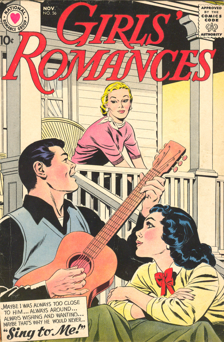 Girls' Romances  #56 (November 1958) Pencils: Bernard Sachs
