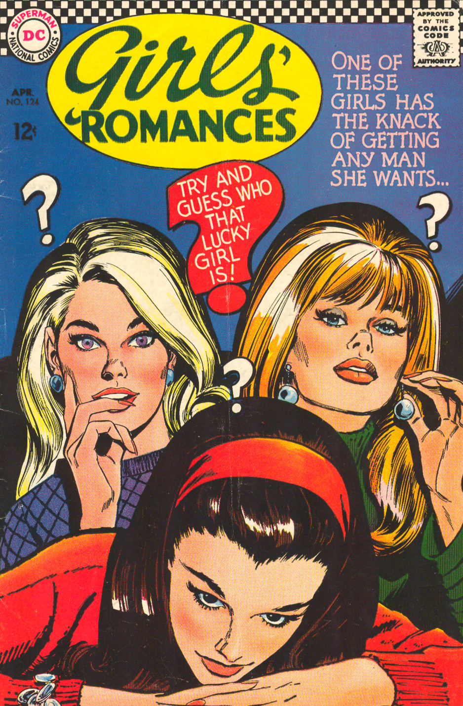 Girls' Romances #124, April 1967 Jay Scott Pike Cover