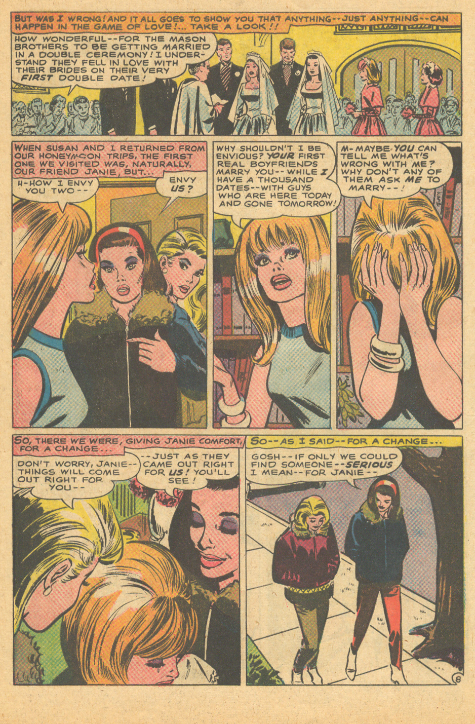 DC romance comic book sequential crush