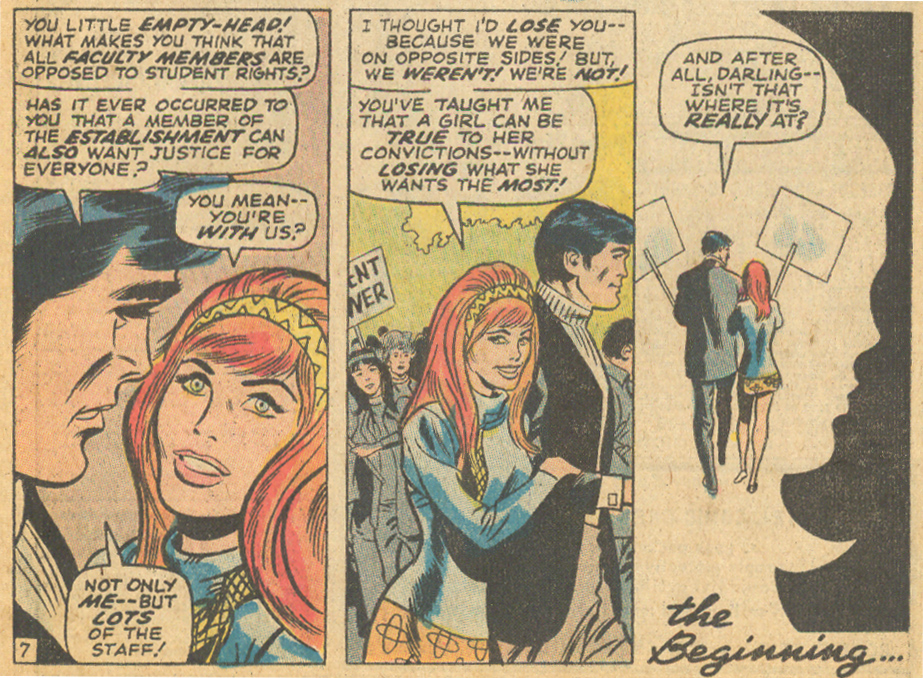 Don Heck My Love romance comic book story member of the establishment counterculture