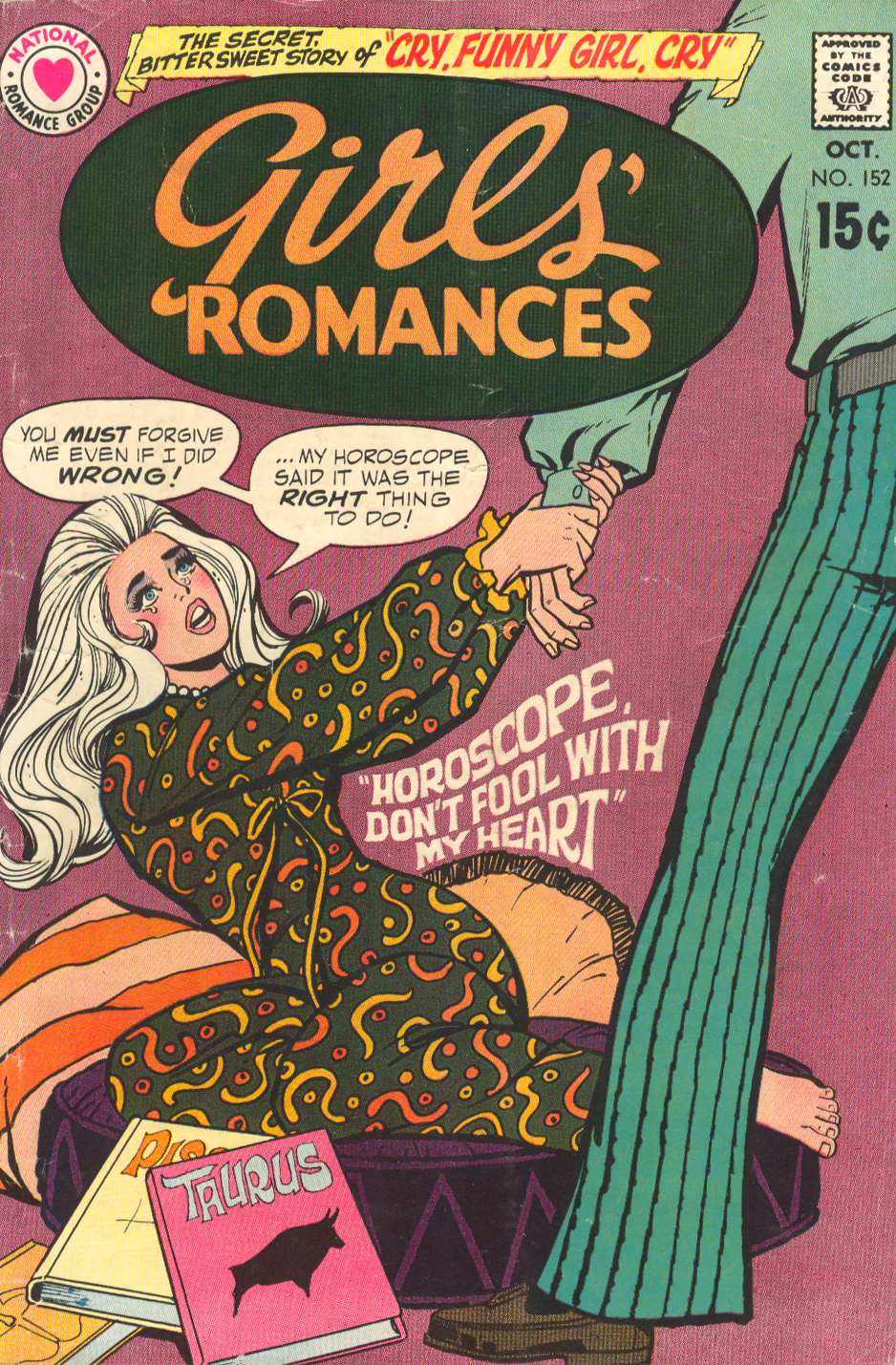Girls' Romances #152 (October 1970) Ric Estrada romance comic book sequential crush