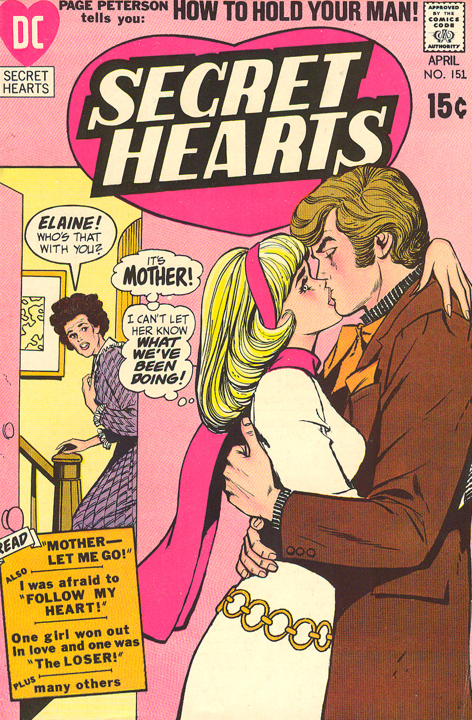 Cover of  Secret Hearts  #151 by Werner Roth and Vince Colletta