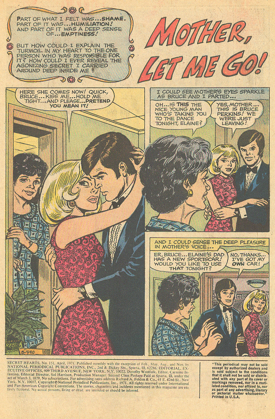 Lee Elias romance comic book artist Secret Hearts