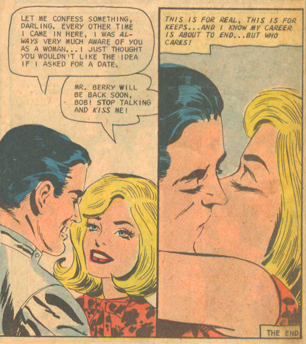 """Formula for Love"" Pencils: Charles Nicholas, Inks: Vincent Alascia    Career Girl Romances  #45 (June 1968)"