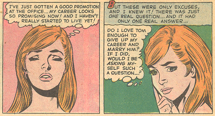 """Today's Heartbreak!""  Secret Hearts  #137  (July 1969) Pencils: Arthur Peddy, Inks: Bernard Sachs"