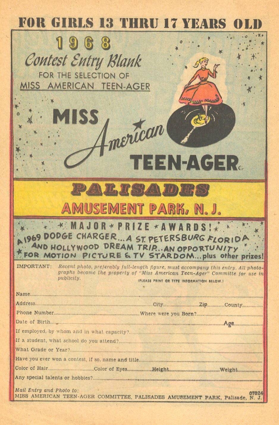 Palisades Amusement Park New Jersey comic books advertisement