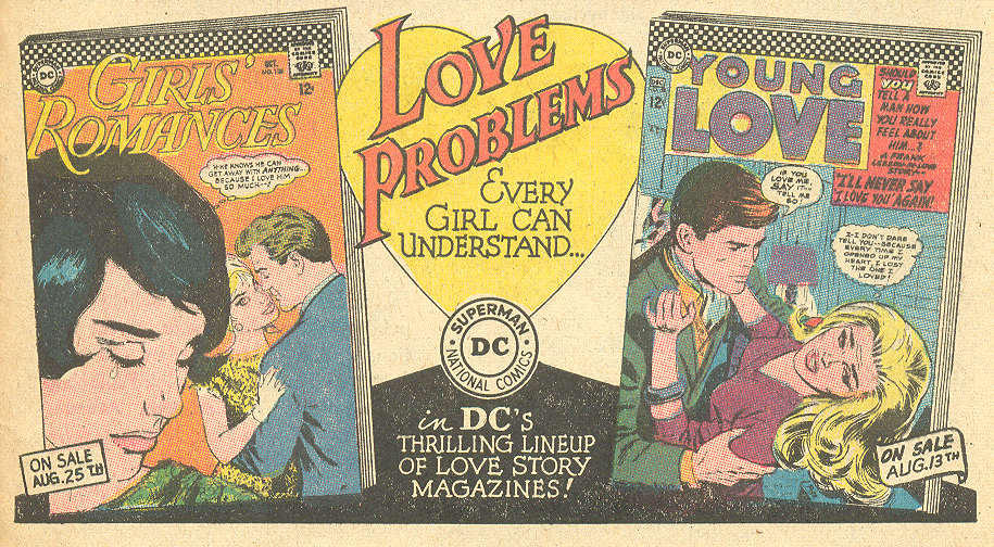 DC comics romance line house advertisement 1960s