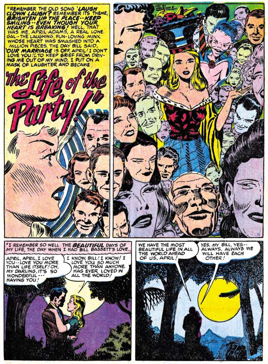 """The Life of the Party!"" Young Love #6 (December 1949) Pencils: John Guinta, Inks: Manny Stallman, Scan from the Simon and Kirby Blog"