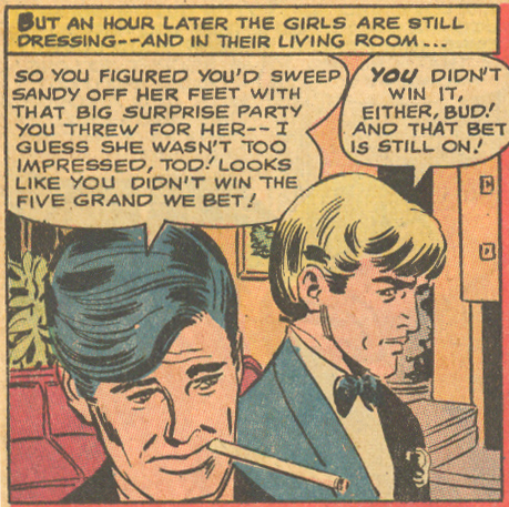 My, my! What a large cigarette you have there, sir! Episode 12  Heart Throbs  #113 (April/May 1968)