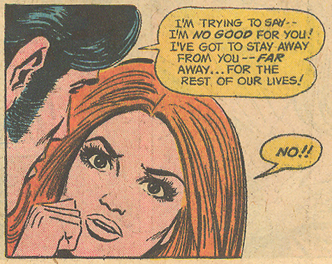 "Even as romance comics were winding down, Mortimer took the time to draw an emotive fist! ""Love is the Answer!"" Young Love #123 (January 1977)"