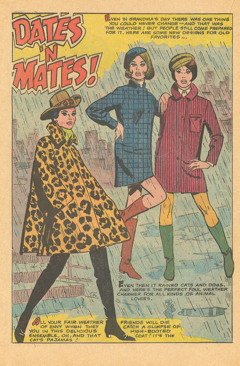 "Romance comics from the '60s and '70s are so captivating, in part, because of the incredible fashions worn by glamorous characters! I know I sure am thankful for   ""Mad Mad   Modes for Moderns"" and ""Dates   'n   Mates!"""