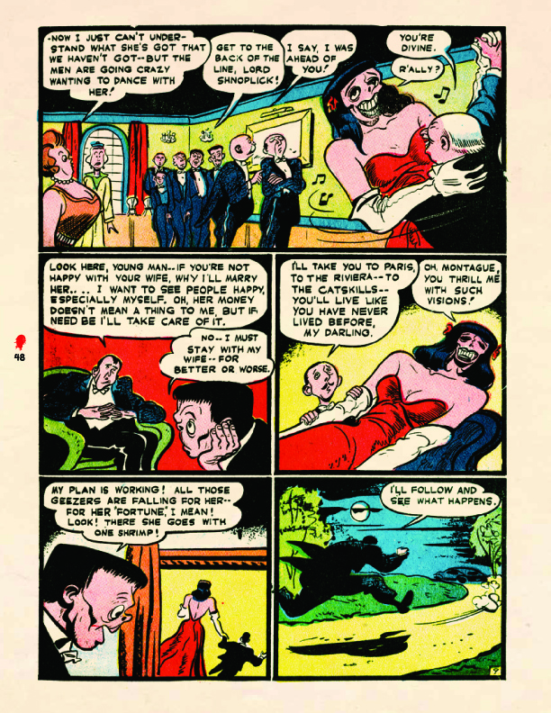 """Frankenstein's Wife"" from the Prize title,  Frankenstein Comics  #1 (1945) Sequential Crush"