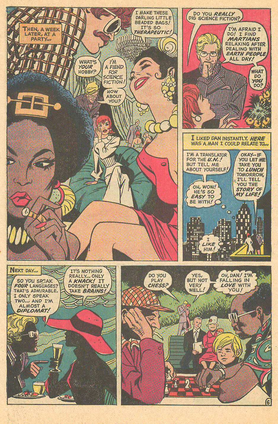 """Too Smart to Love!"" from Falling in Love #137 (October 1972). Penciled by Ric Estrada and inked by Vince Colletta"