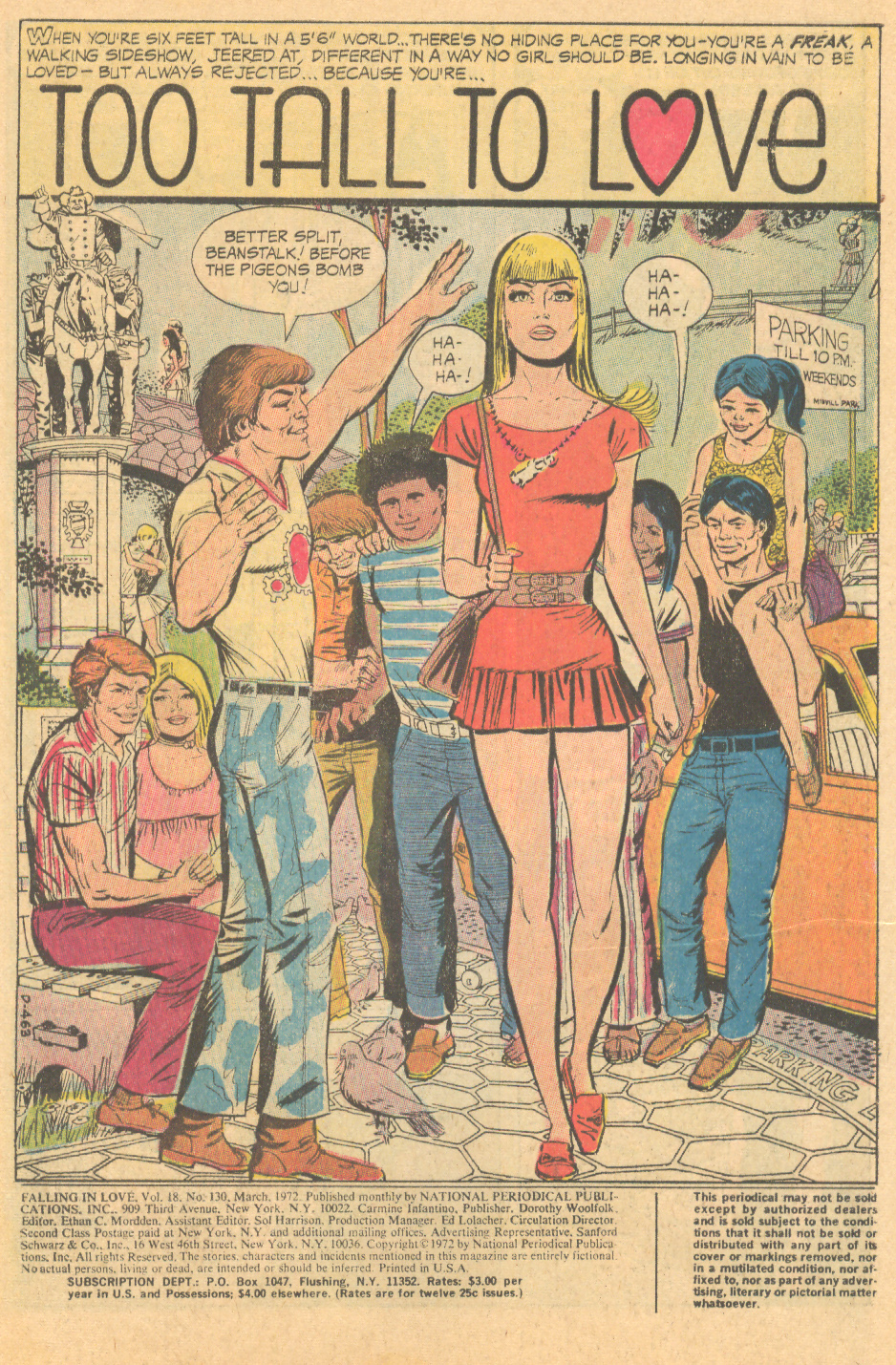 """Too Tall to Love"" Falling in Love #130 (March 1972)"