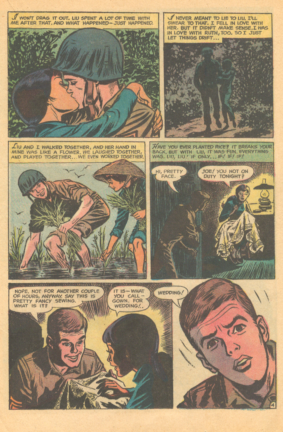 Vietnam war story romance comic book DC Comics