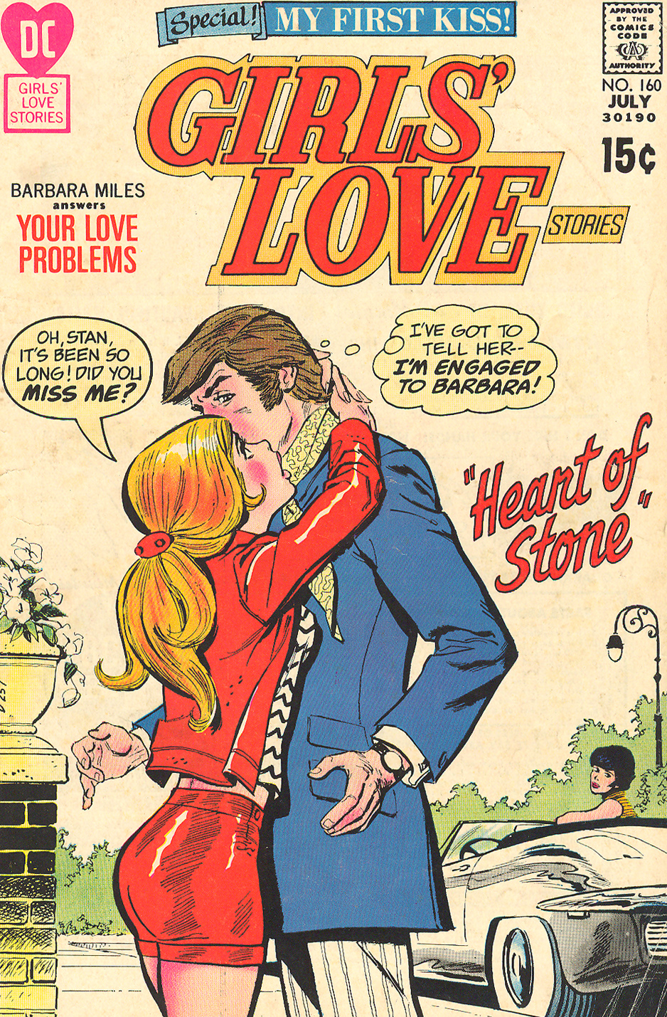 Girls' Love Stories #160 (July 1971) Cover pencils by Saaf, inks by Dick Giordano