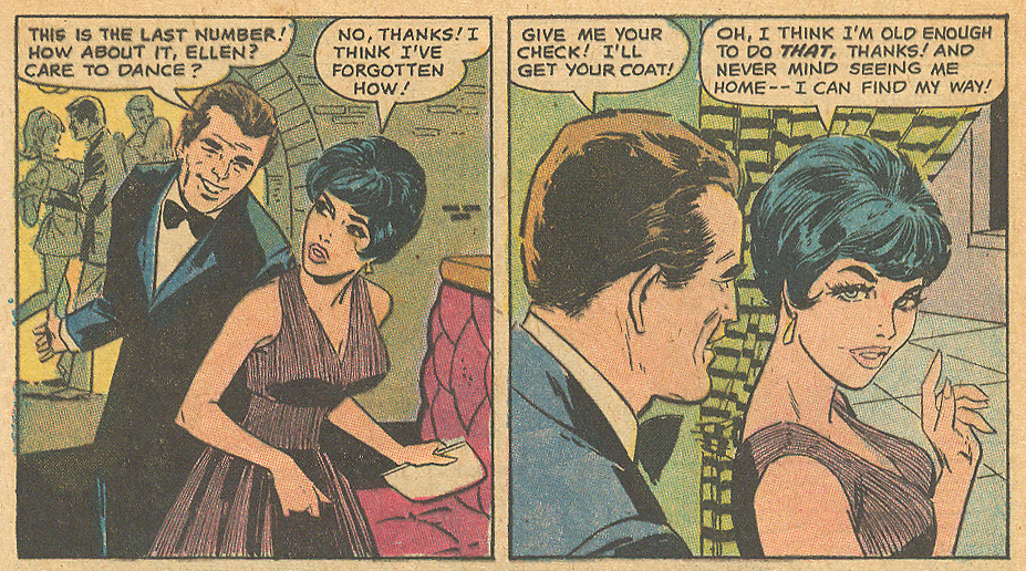 """Too Old for Love!"" Falling in Love #122 (April 1971) Penciled by Saaf and inked by Colletta"