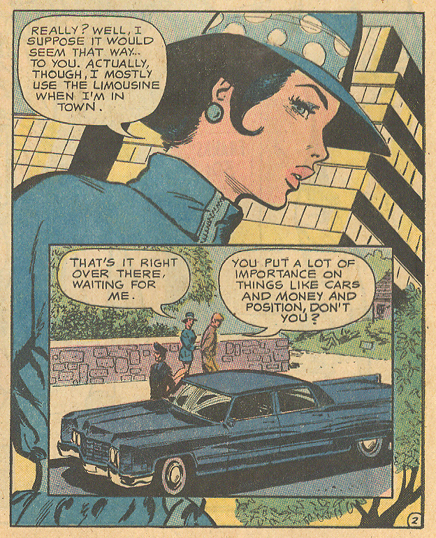 """You're Not My Type... Mr. Winslow!"" Heart Throbs #129 (December/January 1971) Penciled and inked by Saaf"