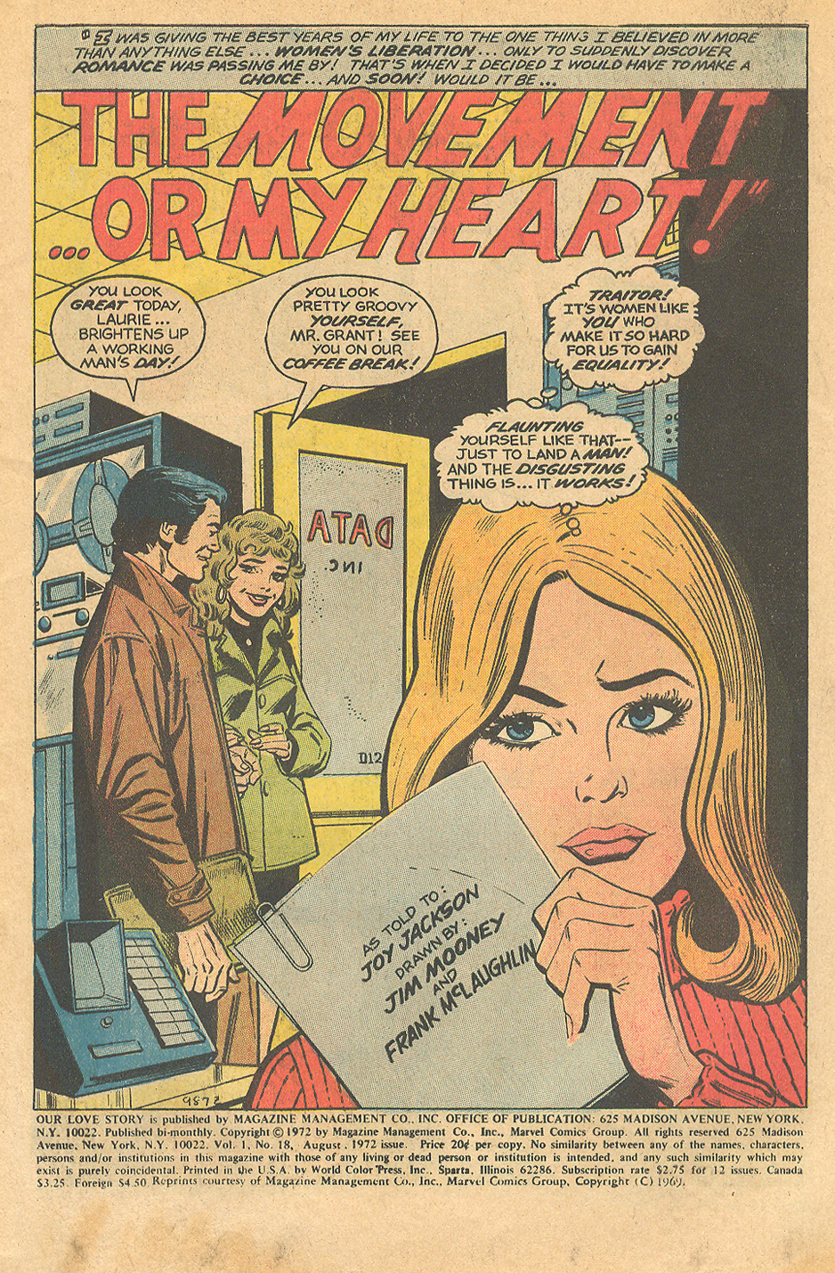 Women's Movement 2nd wave feminism in comic books romance