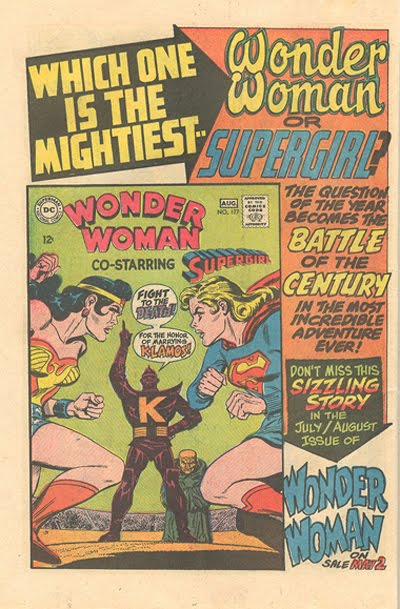 Wonder Woman comic book advertisement