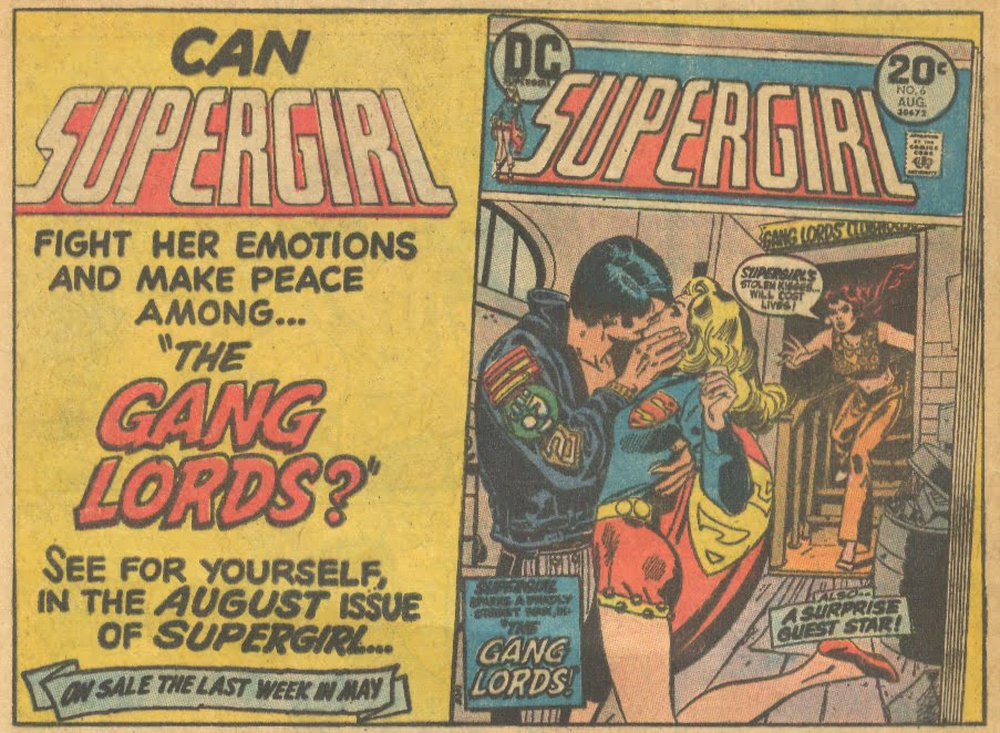 Wonder Woman comic book advertisement Supergirl ad