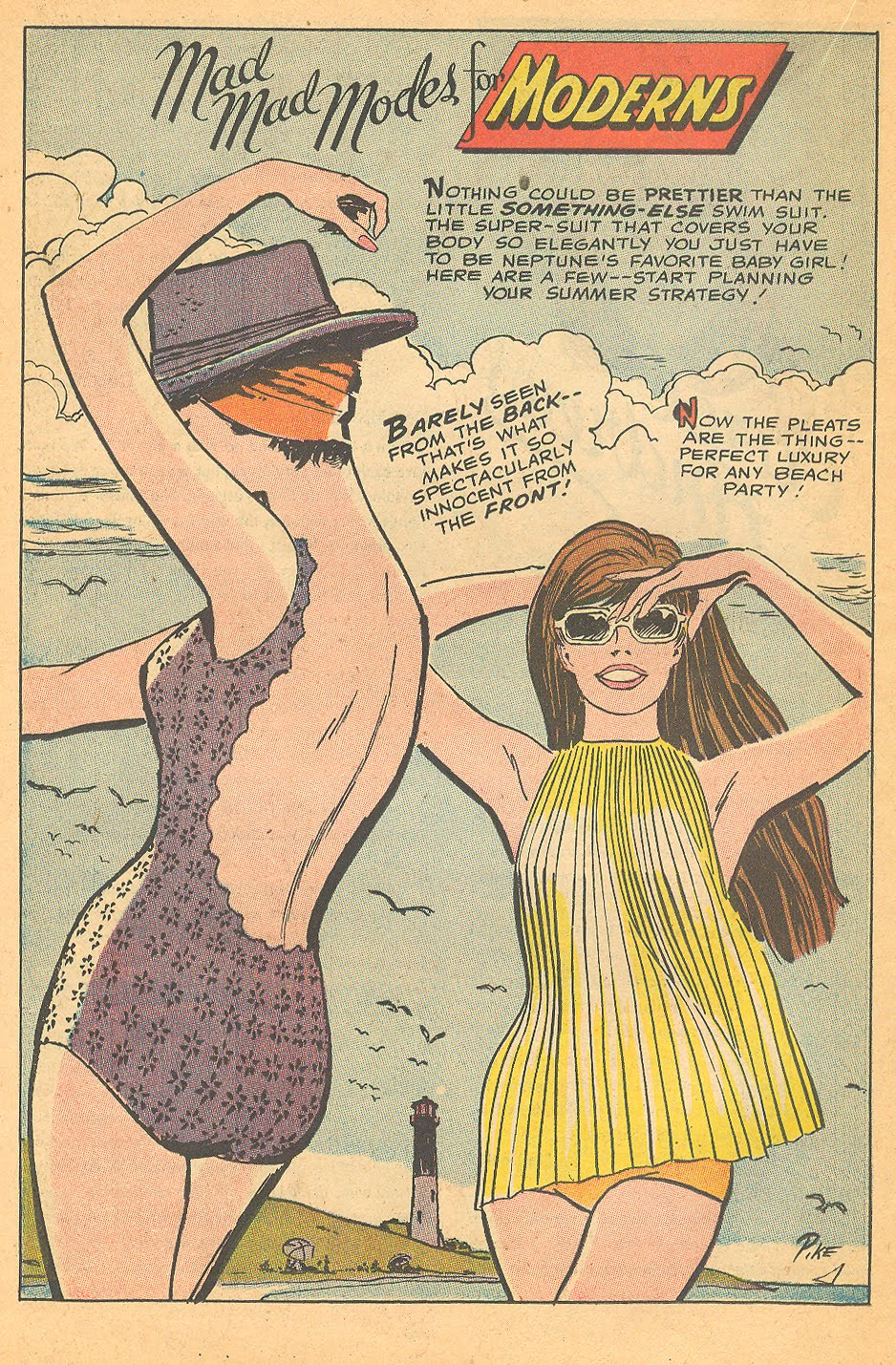 They sure don't make swimsuits like these anymore!