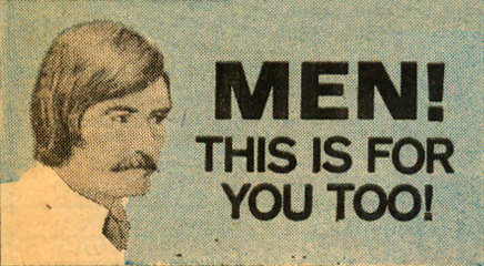 Mustaches in the 1970s vintage books
