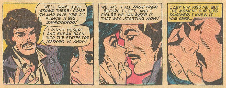 "...and this Vietnam deserter. ""One Heart Must Break!""  Our Love Story  #15 (February 1972)"