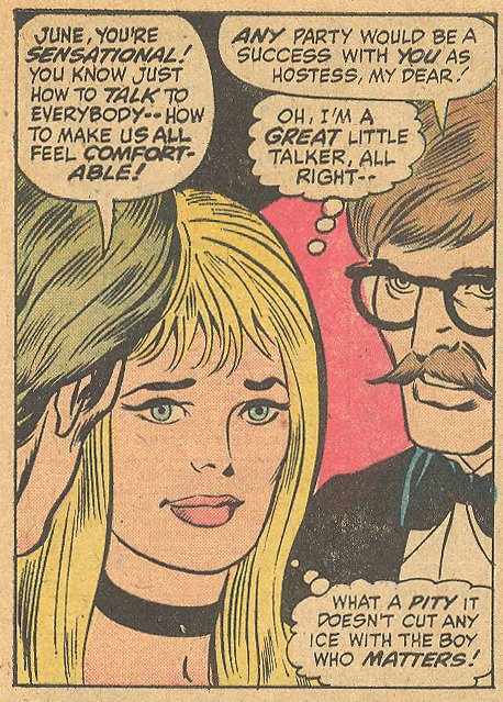 "Not all female romance comic book characters were fans of the 'stache. ""The Boy Who Can't Be Mine!""  My Love  #29 (July 1974)"