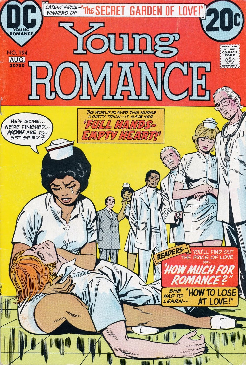 "Out of This World also did a great series on African-American characters in comics including the interracial romance, ""Full Hands, Empty Heart"""