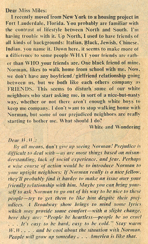 Love advice column