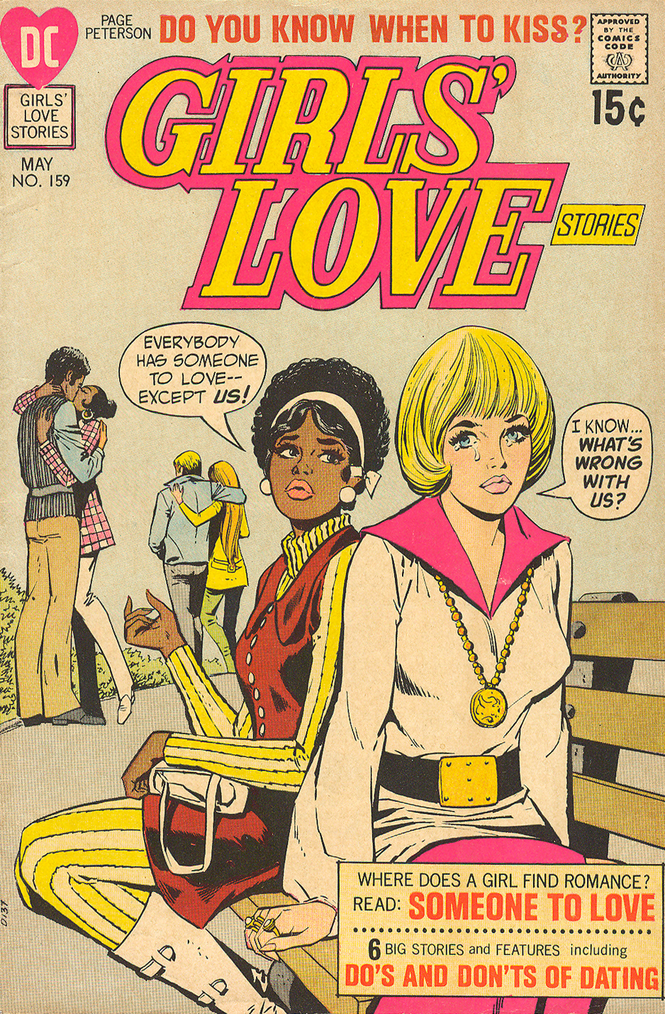 """Someone to Love!"" from DC's Girls' Love Stories #159 (May 1971) Civil rights movement"