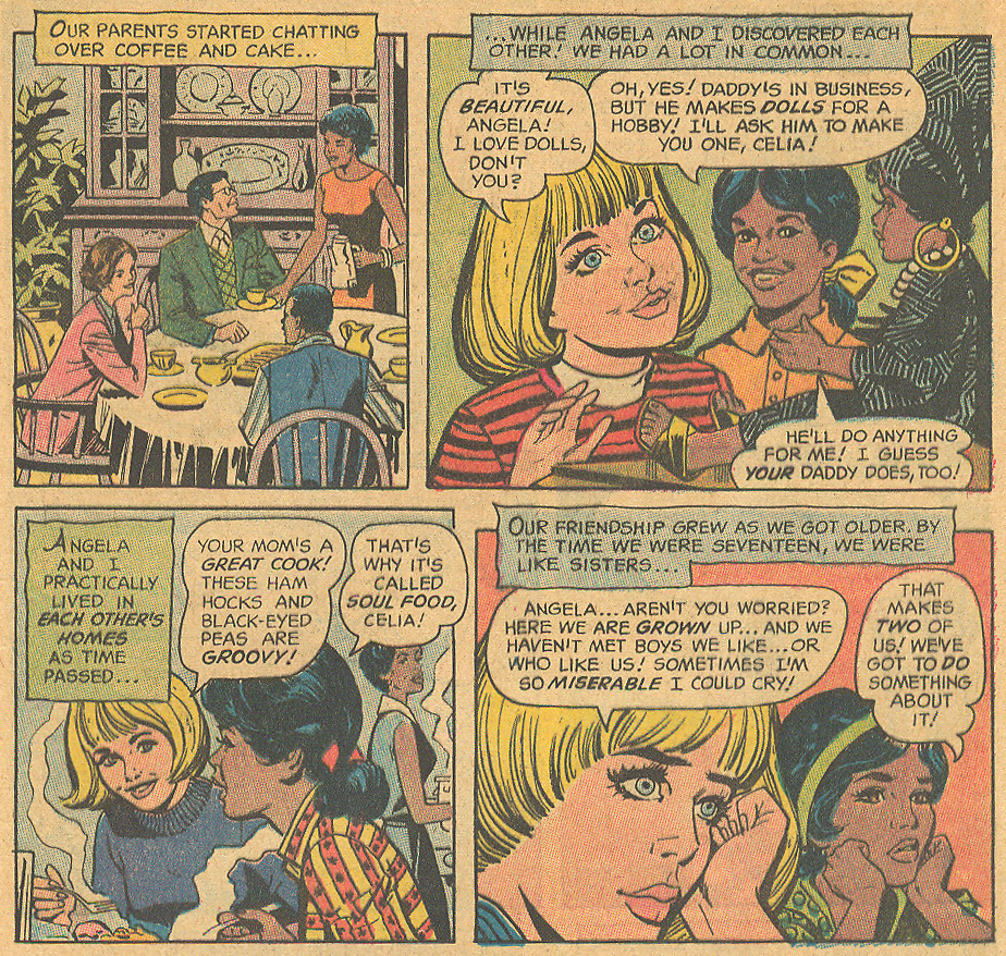 Interracial friendship romance comic books 1970s DC Comics