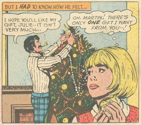 """The Perfect Gift""  Falling in Love  #128 (January 1972)   Pencils: John Rosenberger"