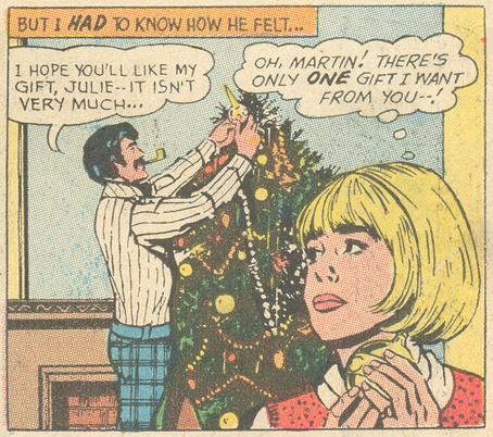 """The Perfect Gift""  Falling in Love  #128 (January 1972)  Pencils: John Rosenberger"