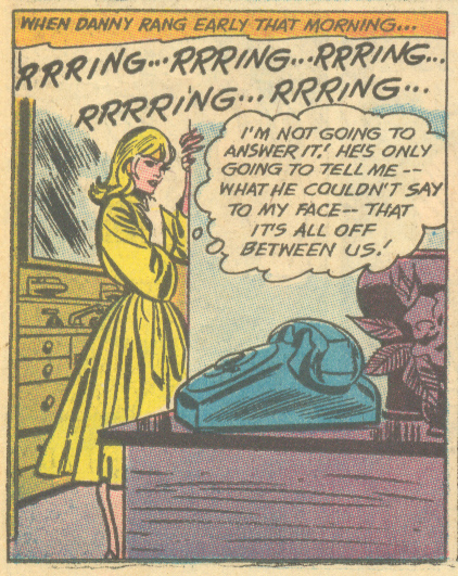 """Letter to a Lost Love!"" Girls' Romances #136 (October 1968) Pencils and Inks: John Romita"