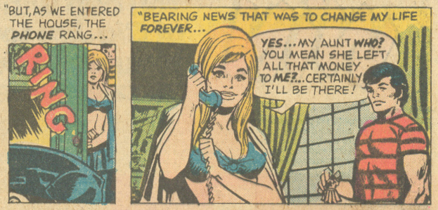 """Leaving on a Jet Plane!""  My Love  #30 (September 1974) Pencils: Jack Katz, Inks: Frank Giacoia"
