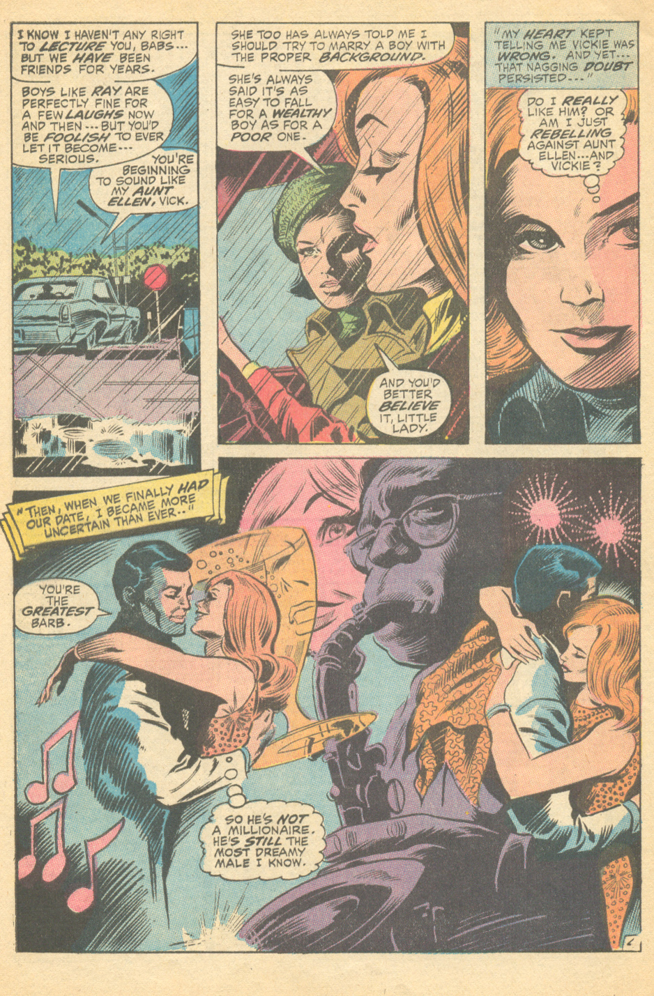 "Inks: Jim Mooney, ""The Boy That Got Away!"" My Love #4 (March 1970)"