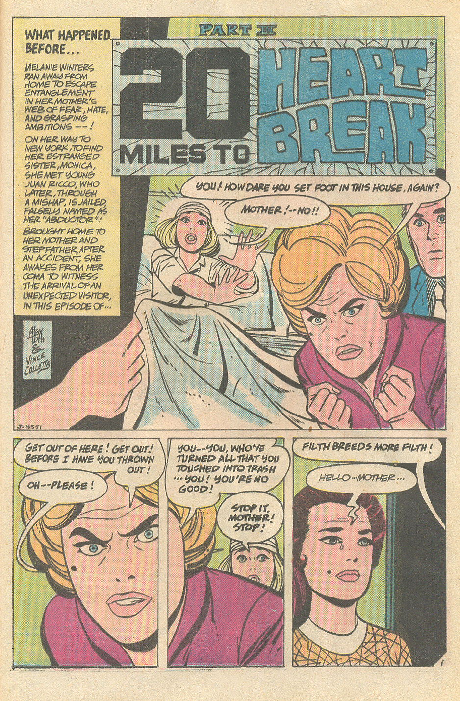 On the splash page of the third   episode   it is revealed that the uninvited stranger is none other than Melanie's sister, Monica!